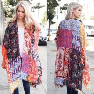 🌄Boho Colorful Patchwork Kimono